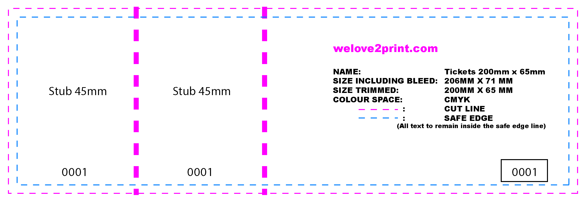 double sided ticket printing weloveprint details