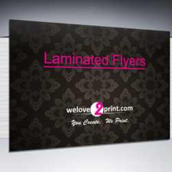 Laminated Flyers & Leaflets Printing